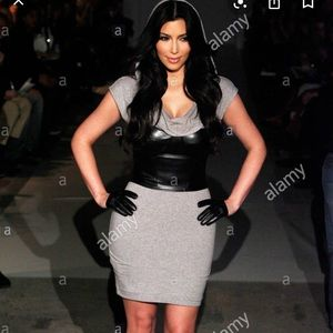 Kardashian Bebe Gray dress